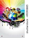 global music event background... | Shutterstock . vector #49090885