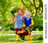 Two Children Picking Fresh...