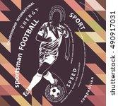 football poster | Shutterstock .eps vector #490917031