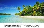 beautiful tropical island... | Shutterstock . vector #490920691