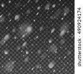 abstract snowfall overlay... | Shutterstock .eps vector #490924174