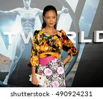 Small photo of Thandie Newton at the Los Angeles premiere of HBO's 'Westworld' held at the TCL Chinese Theatre in Hollywood, USA on September 28, 2016.