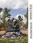 Small photo of ORLANDO,USA - SEPTEMBER 10, 2016 : Sculpture of Popeye at Universal Studios Florida theme park.