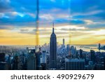 a scenic view of the... | Shutterstock . vector #490929679
