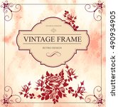 Vintage Vector Card With Rose....
