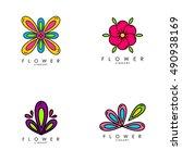 flower logo template | Shutterstock .eps vector #490938169