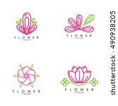 flower logo template | Shutterstock .eps vector #490938205