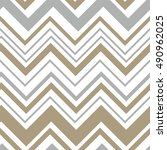 Seamless pattern with chevron design | Shutterstock vector #490962025