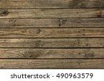 wood plank brown texture... | Shutterstock . vector #490963579