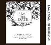 vintage delicate invitation... | Shutterstock .eps vector #490967995