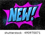 pop art logo. comics style.... | Shutterstock .eps vector #490970071