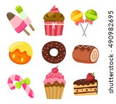 vector illustration of assorted ... | Shutterstock .eps vector #490982695