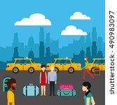 taxi service public icon vector ... | Shutterstock .eps vector #490983097