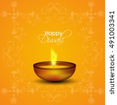 happy diwali illustration ... | Shutterstock .eps vector #491003341