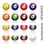 billiard balls  vector | Shutterstock .eps vector #49100455