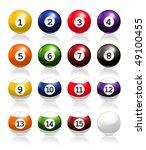 billiard balls  vector | Shutterstock .eps vector #49100455