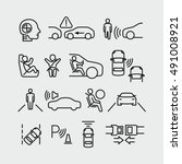 car safety vector icons | Shutterstock .eps vector #491008921