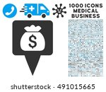 treasure map pointer icon with... | Shutterstock .eps vector #491015665