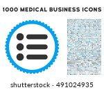 items icon with 1000 medical...