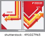 annual report cover design | Shutterstock .eps vector #491027965
