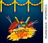 diwali sale flyer  banner or... | Shutterstock .eps vector #491040211