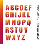 bright geometric alphabet ... | Shutterstock .eps vector #491049061