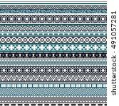 tribal seamless pattern.... | Shutterstock .eps vector #491057281