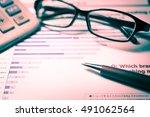 business graph background. ... | Shutterstock . vector #491062564
