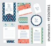 vector gentle cards template... | Shutterstock .eps vector #491065861