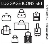 luggage icons set | Shutterstock . vector #491069371