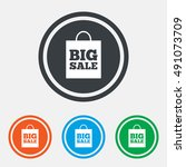 big sale bag sign icon. special ... | Shutterstock .eps vector #491073709