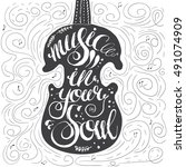 "hand drawn lettering ""music in... 