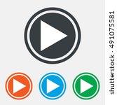 arrow sign icon. next button.... | Shutterstock .eps vector #491075581