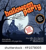 a halloween party flyer leaflet ...   Shutterstock .eps vector #491078005