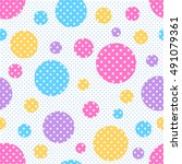 seamless geometric pattern with ... | Shutterstock .eps vector #491079361