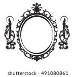 vintage frame with lamps....   Shutterstock .eps vector #491080861
