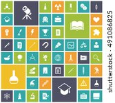 flat design icons for education ...