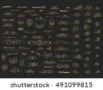 vintage decor elements and... | Shutterstock . vector #491099815