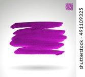 brushstroke and texture. vector ... | Shutterstock .eps vector #491109325