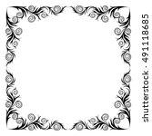 vector frame. decorative... | Shutterstock .eps vector #491118685