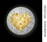 Disco Ball With Heart Symbol