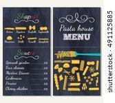 italian food menu for... | Shutterstock .eps vector #491125885
