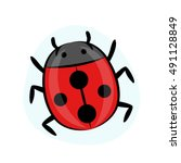 ladybug illustration   Shutterstock .eps vector #491128849