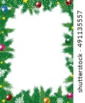 christmas background with... | Shutterstock .eps vector #491135557