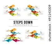 vector illustration of steps... | Shutterstock .eps vector #491143309
