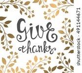 thanksgiving day illustration...   Shutterstock .eps vector #491144671