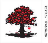 valentine's tree with hearts | Shutterstock .eps vector #4911523