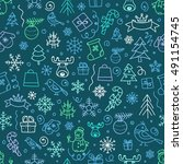 christmas season vector... | Shutterstock .eps vector #491154745