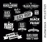 black friday calligraphic... | Shutterstock .eps vector #491157325