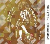 football poster | Shutterstock .eps vector #491157481